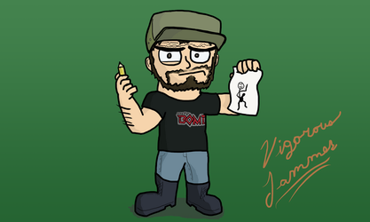 Cartoon Self Portrait ID (Alternate Background) by Vigorousjammer