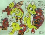 PC: Keesha and Thorn Doodle Page -BX- by KaijuDragon