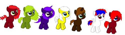 Hatched ponies for monkeystar290 by Casey-the-unicorn
