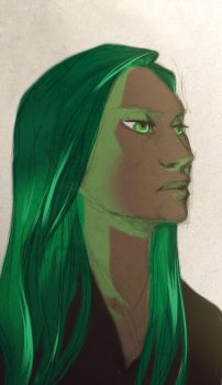 Green  lady by Little-Endian