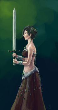 With sword by LittleLittleMuy
