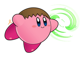 Kirby Smash abilities - kirby villager by Efraimrdz