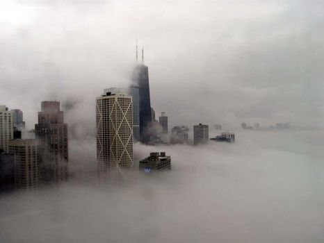 Foggy Day in Chitown by vectorlime
