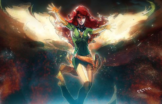 jean grey by Peter-v-Nguyen