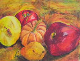 Pumpkin with pear and apples by abflabby