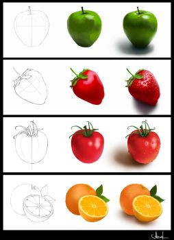 Fruits in process by Azot2017