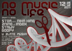 no music no life flyer by 2NiNe