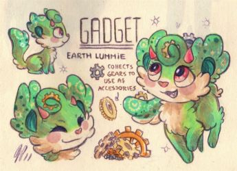 Gadget Ref. Sheet [Commission] by Baraayas