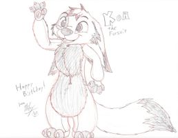 Gift Sketch - Koa Fursuit by Stitchfan