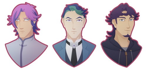 Just some portraits by BlackThunder-chan