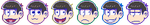 Osomatsu-san Icons by Kiss-the-Iconist