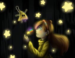 Gravity Falls: Shooting Star and Bill Cipher by TheAleksia