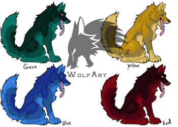 Happy Dog Adoptables by WolfArtC