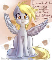 Derpy and muffins by ChaosAngelDesu