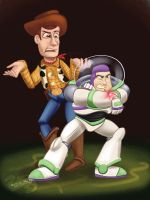 Woody and Buzz by DevinQuigleyArt