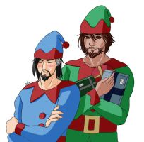 Hanzo and McCree Elves  Commission by Elvishprincess25