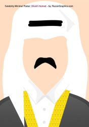 Celebrity Minimal Poster: Shiekh Hamad - by: Razan by razangraphics