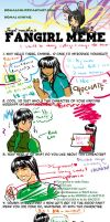 Naruto Fangirl Meme- Rock Lee by Komalash