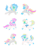 MLP Bred Adopts -  Pastel Zebra Foals (Closed) by Blast4rt