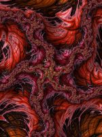 Fibre Fractal Red by KateHodges