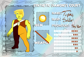 Topaz (Soldier to Synthetic Diamond) by UnakiteorWhatever