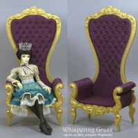 BJD Rococo High Throne Armchair by scargeear