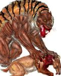 Kill site: Bengal Tiger by Jarahamee