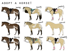 FREE horse adoptables! (0/3 available) by bellequine