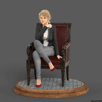 Cathy Chair Turntable by Edheldil3D