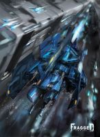 FRAGGED :: Kaltoran Spacecraft, B-type by TED-MX