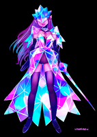 Geometric glitter warrior gif by visualkid-n