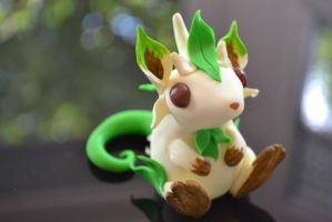 Little Leafeon mouse by Lighane