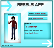 My VIRUS 3V1L RPG- Rebel by wizardotaku