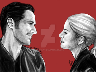 Lucifer and Chloe by swankkat