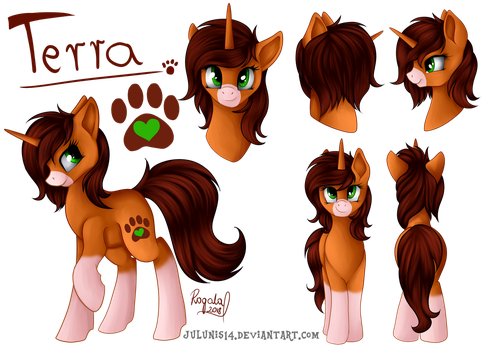 Commission - Terra Reference Sheet by Julunis14