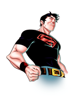 Raheight's Superboy by sketchandthecity