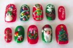 Christmas Nails by The-Lady-of-Kuo