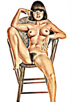 Sitting on a chair by drimba
