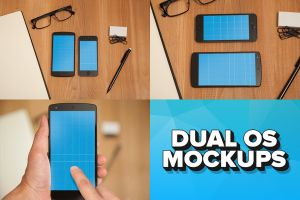 iPhone 5s and Nexus 5 Dual OS PSD Mockups by pstutorialsws
