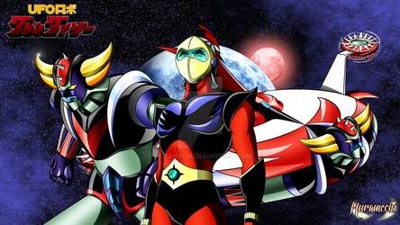 [Wallpaper][Gift] Tobe ! Grendizer ! by Huramechi