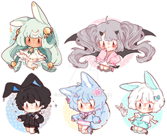 mini chibis by Bunniilu