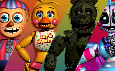 FNaF+ (HeroGollum Wallpaper) by HeroGollum