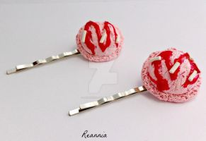 Strawberry Ice cream Hairpins by Rhiannon-San