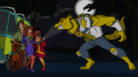 Scooby Doo: The Gang and Werewolf by TheMarineLycan