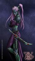 Drow Sorceress by LazarusReturns