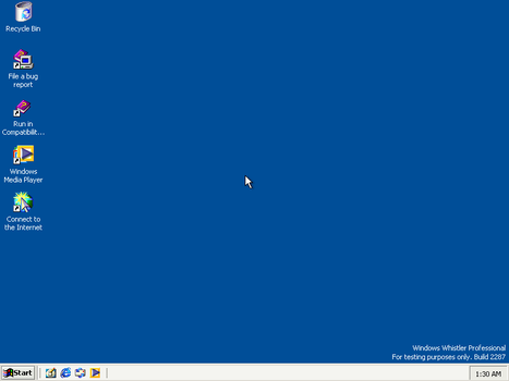 Windows Whistler Build 2287 Test on PC by FlamePrincess3535