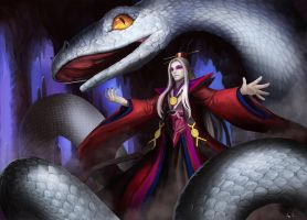 King White Snake by chalii
