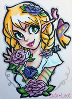 ACEO - Roses by cute-loot
