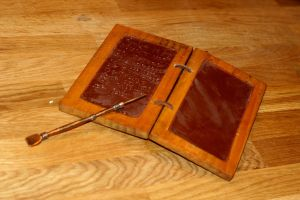 Wax tablets with writing by Dewfooter