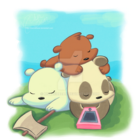 We Bare Bears: #bearstack 1 -color- by mscherbear
